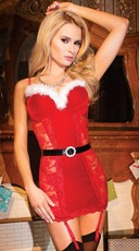 Red Lace Holiday Chemise