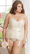 Plus Size Ivory Elegance Corset