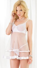 Blushing Bridal Babydoll and G-String