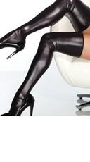 Sexy Black Metallic Thigh Highs