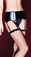 Wet Look Plus Size Garter Belt