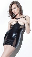 Wet Look Cupless Chemise