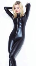 Wet Look Zip Up Catsuit