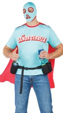Men's Senor Cerveza Superhero Costume