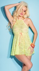 Neon Lace Babydoll