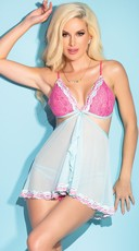 Pretty in Pastels Convertible Babydoll