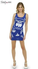 Grape Tootsie Roll Pop Tank Dress