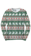 Reindeers And Rabbits Faux Ugly Christmas Sweater Shirt