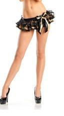 Camo Ruffled Mini Skirt