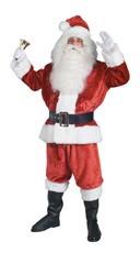 Extra Large Crimson Imperial Santa Suit Costume