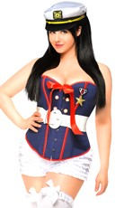Plus Size Deluxe Saucy Shipmate Costume