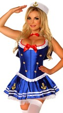 Sexy First Mate Sailor Corset Costume