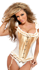 Glamorous White and Gold Corset