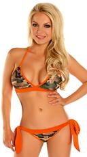 Orange Camouflage Bikini