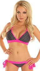 Pink Pin-Up Polka Dot Bikini