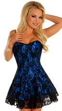 Darling Blue Lace Corset Dress