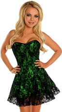 Green Lace Corset Dress