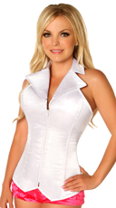 Lavish White Collared Corset