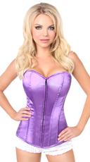 Plus Size Purple Sweetheart Corset