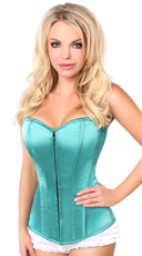 Deep Mint Green Sweetheart Corset