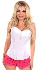 White Sweetheart Zip Front Corset