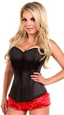 Black Sweetheart Zip Front Corset