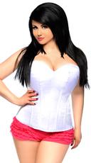 Lavish Plus Size White Sweetheart Corset