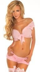 Pink Peasant Top