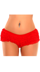Plus Size Red Ruffle Panty With Bow