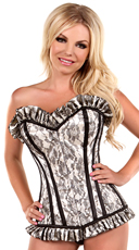 Ivory Lace Steel Boned Corset