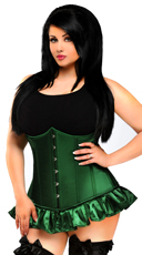 Plus Size Emerald Steel Boned Underbust Corset
