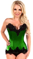 Emerald Green Steel Boned and Beaded Corset