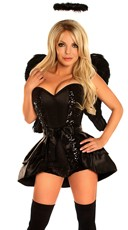 Deluxe Dark Angel Corset Costume