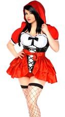 Plus Size Sassy Lace Up Riding Babe Costume