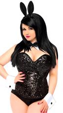 Plus Size Sequin Bunny Costume