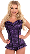 Purple Lace Steel Boned Corset