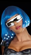 Light Up Blue Wig Costume