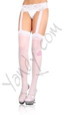 Plus Size Sheer Garterbelt Pantyhose