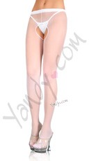 Plus Size Open Crotch Pantyhose