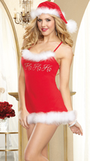 Santa's Naughty Helper Chemise and Hat