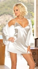 Charmeuse Babydoll and Matching Robe