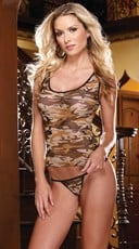 Camouflage Camisole and Thong