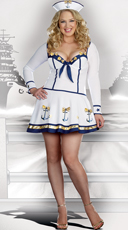 Makin' Waves Plus Size Sailor Costume
