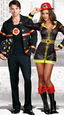 Smokin' Hot Fire Fireman and Women Couple Costume