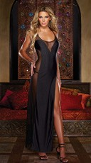 Mesh Gown with Illusion Detail