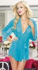 Turquoise Soft Kimono and Cheeky Panty