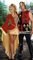 Medieval Royalty Couples Costume