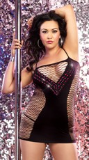 Plus Size Private Dance Chemise and G-String