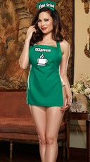 Plus Size Coffeehouse Cutie Lingerie Costume