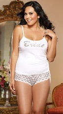 Plus Size First Kiss Bridal Tank And Panty